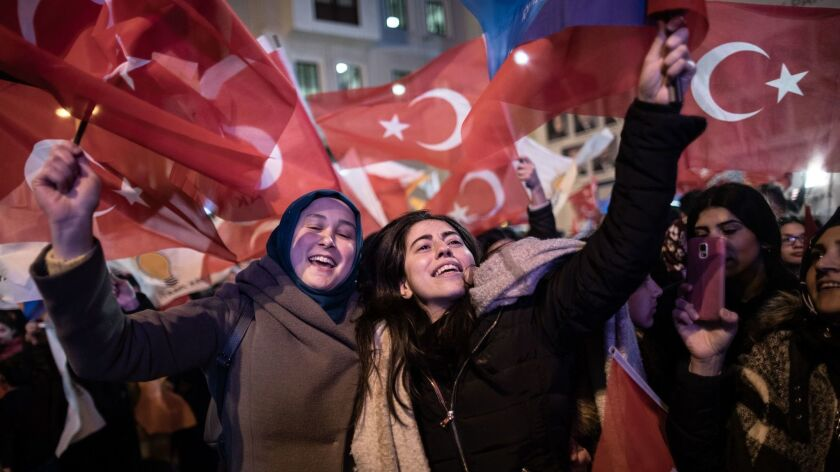 Local elections in Turkey, Istanbul - 31 Mar 2019