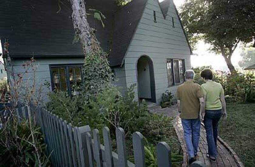 Paul and Dete Meserve's home is one of 42 California bungalow-style houses built between 1911 and 1926.