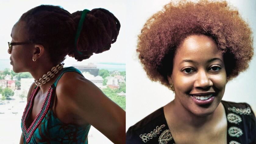 Nnedi Okorafor, left, and N.K. Jemisin have won Hugo Awards.