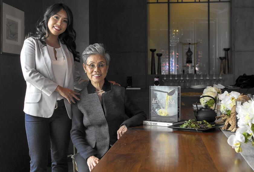 "Jacqueline An and her mother Helene are owners of the restaurant AnQi at South Coast Plaza. The two have a new cook book titled ""An: to eat — Recipes and Stories from a Vietnamese Family Kitchen."""