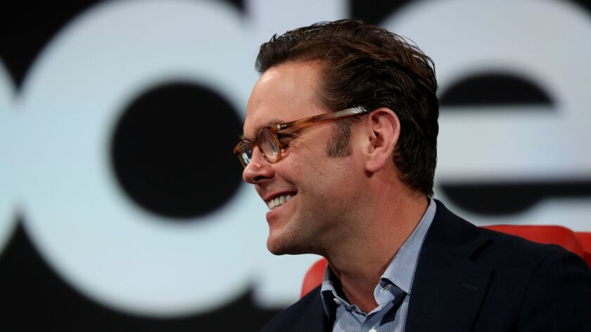 James Murdoch speaks at the Code Conference 2018 at Terranea Resort in Rancho Palos Verdes, Calif. o