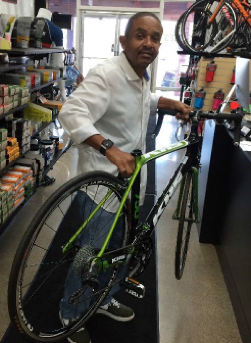 Costa Mesa police are seeking help in identifying this man, who is suspected of using fake traveler's checks to buy a bicycle worth $1,700.