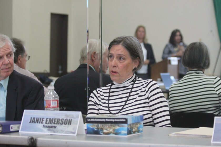 La Jolla Community Planning Association trustee Janie Emerson