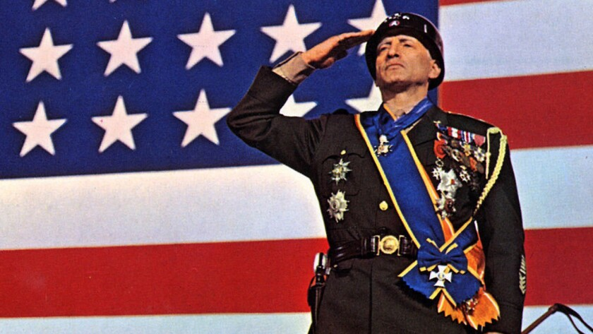 """George C. Scott is seen in a 20th Century Fox handout photo from the 1970 movie """"Patton."""" Scott, who won an Oscar for the role, died Wednesday, Sept. 22, 1999, of a ruptured abdominal aortic aneurysm at his home northwest of Los Angeles. (AP Photo/20th Ce"""