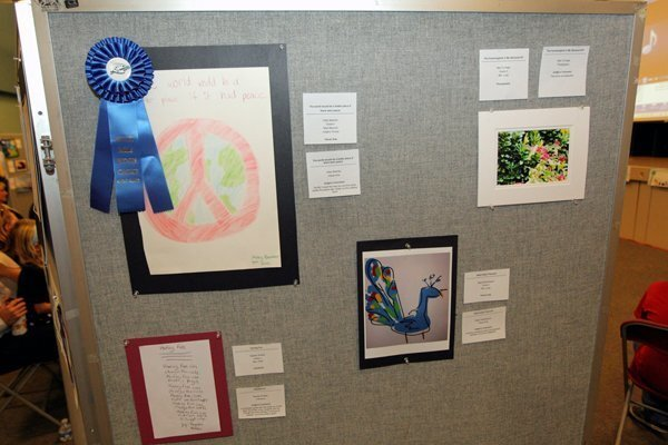 Visual Arts entries at the Ashley Falls School Reflections event