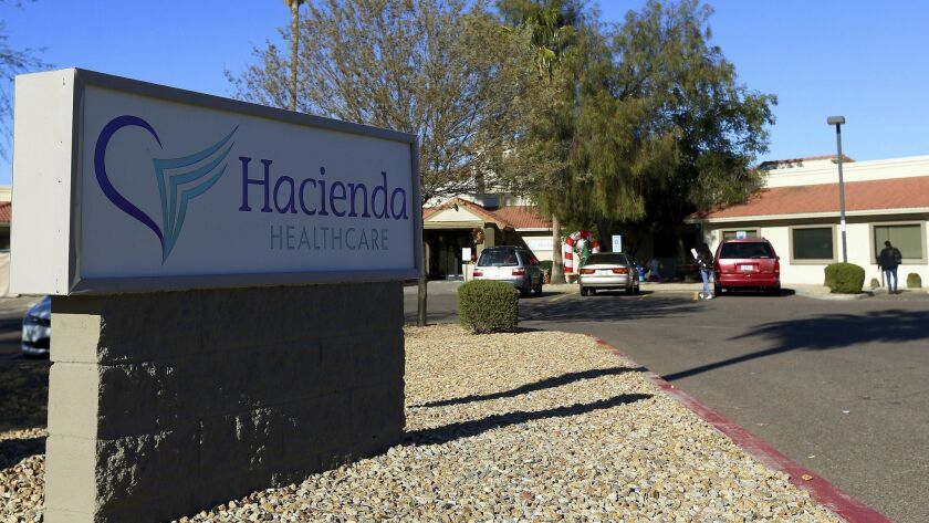 Bill Timmons, chief executive of Hacienda HealthCare, resigned after a woman in a vegetative state gave birth at the company's Phoenix facility.