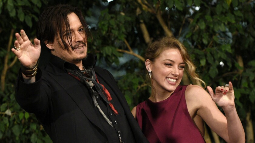 """Johnny Depp and Amber Heard, who were just in Japan for the Tokyo premiere of """"Mortdecai,"""" got married in a civil ceremony Wednesday, according to a number of reports."""