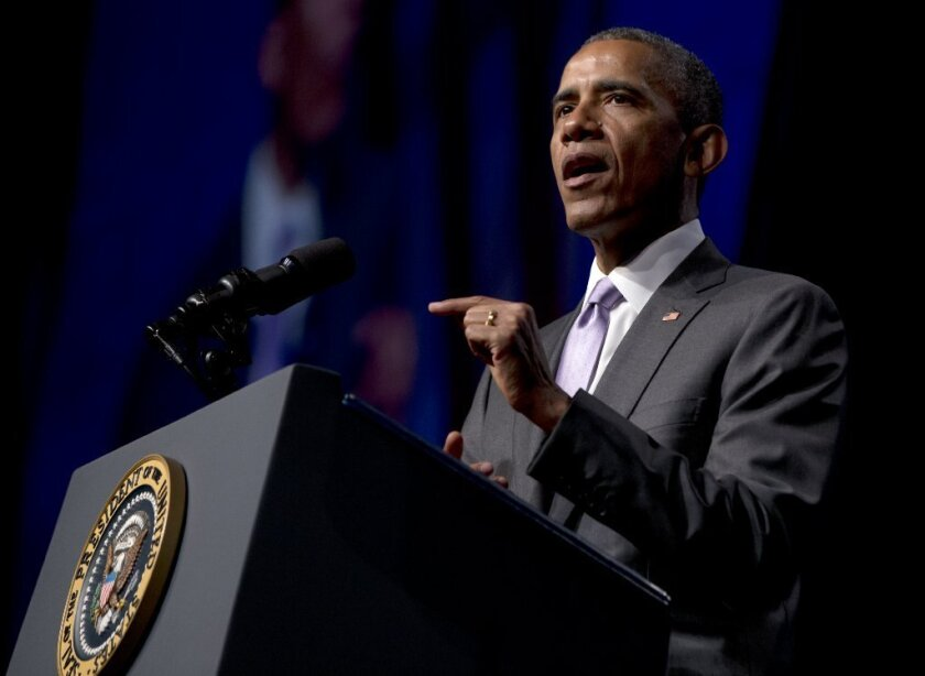 President Obama speaks to the Catholiic Health Assn. conference in Washington on Tuesday.