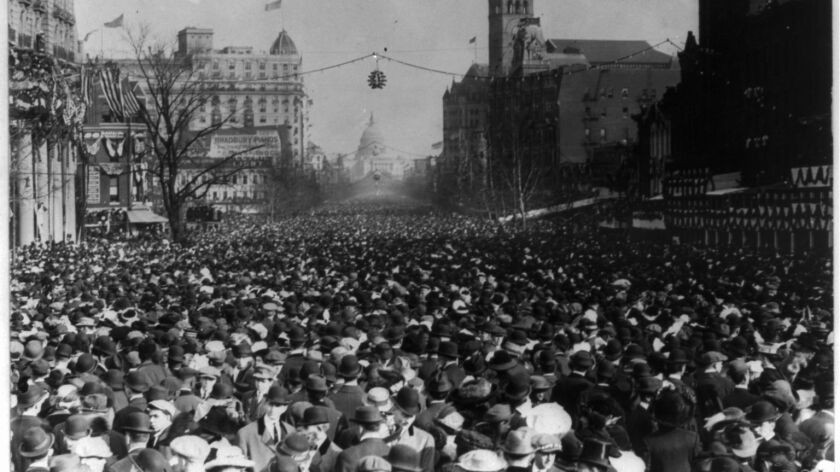 More than 100 years ago, one day before the inauguration of Woodrow Wilson, protesters took to the streets demanding a greater voice for women in American political life.