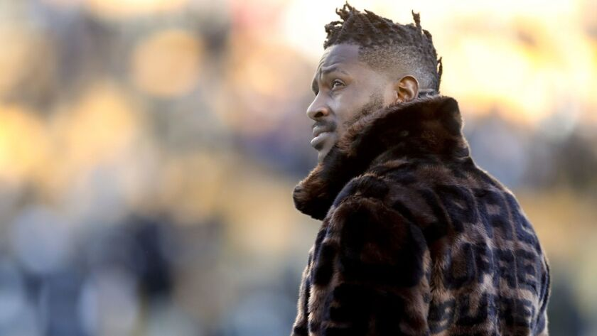 Pittsburgh receiver Antonio Brown stands on the sideline before the Steelers' game against the Cincinnati Bengals on Dec. 30.