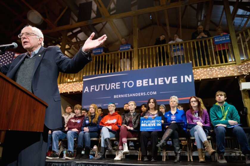 Democratic presidential candidate Sen. Bernie Sanders (I-Vt.), speaking Tuesday, days after unveiling a plan for single-payer healthcare reform.