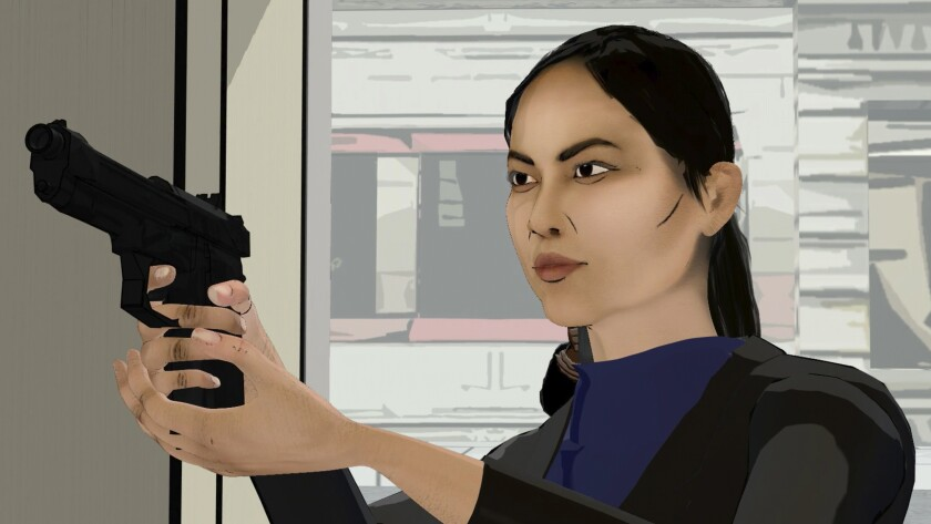 """Laura Sohn in """"The Kazanjian Brothers"""" episode of """"The Blacklist."""" The NBC series finished its season by replacing scenes it hadn't managed to shoot with animated segments."""
