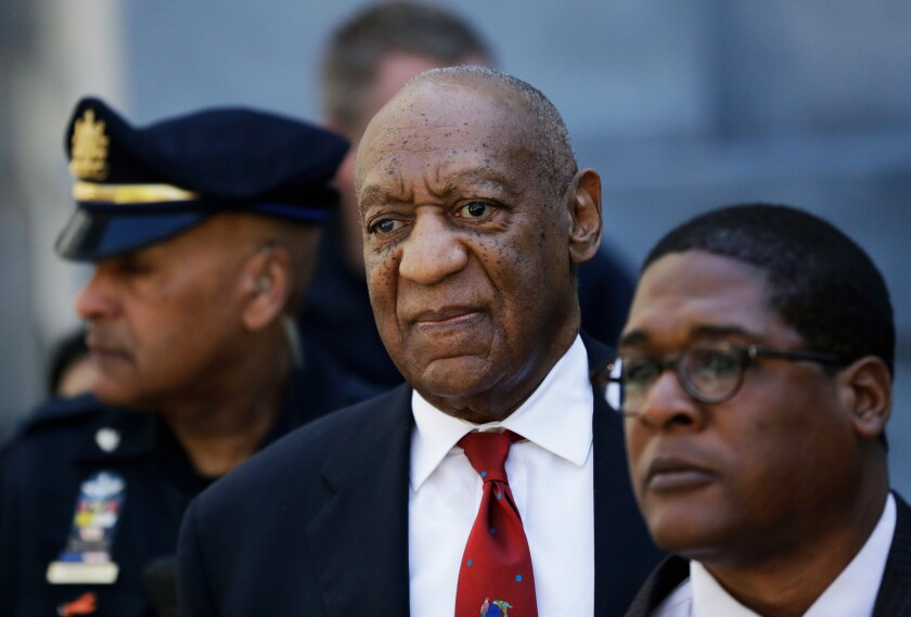 Bill Cosby leaving a courthouse in Norristown, Pa., after his conviction in 2018