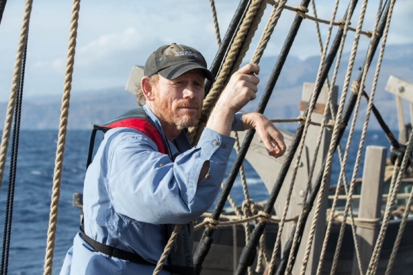 """Director-producer Ron Howard on the set of Warner Bros. Pictures' and Village Roadshow Pictures' action adventure movie """"In the Heart of the Sea."""""""