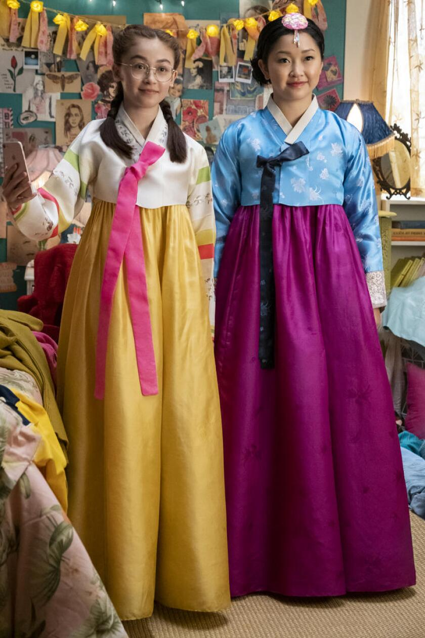 "Kitty (Anna Cathcart) and Lara Jean (Lana Condor) in ""To All The Boys: P.S. I Love You."""