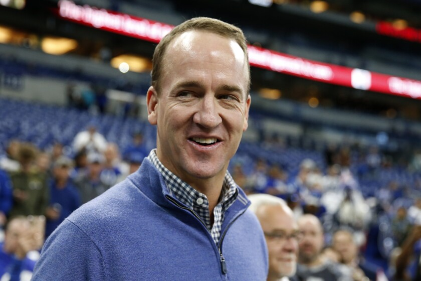 Former Indianapolis Colts and Denver Broncos quarterback Peyton Manning.