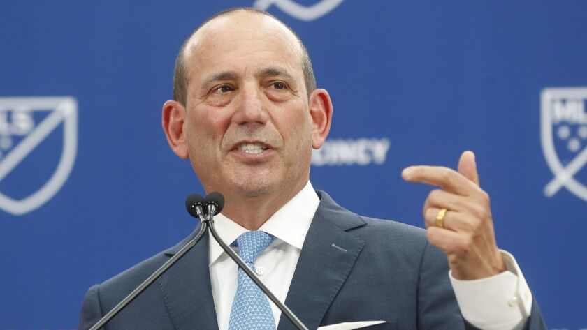 Major League Soccer commissioner Don Garber is pushing strongly for the adoption of both training and solidarity compensation.