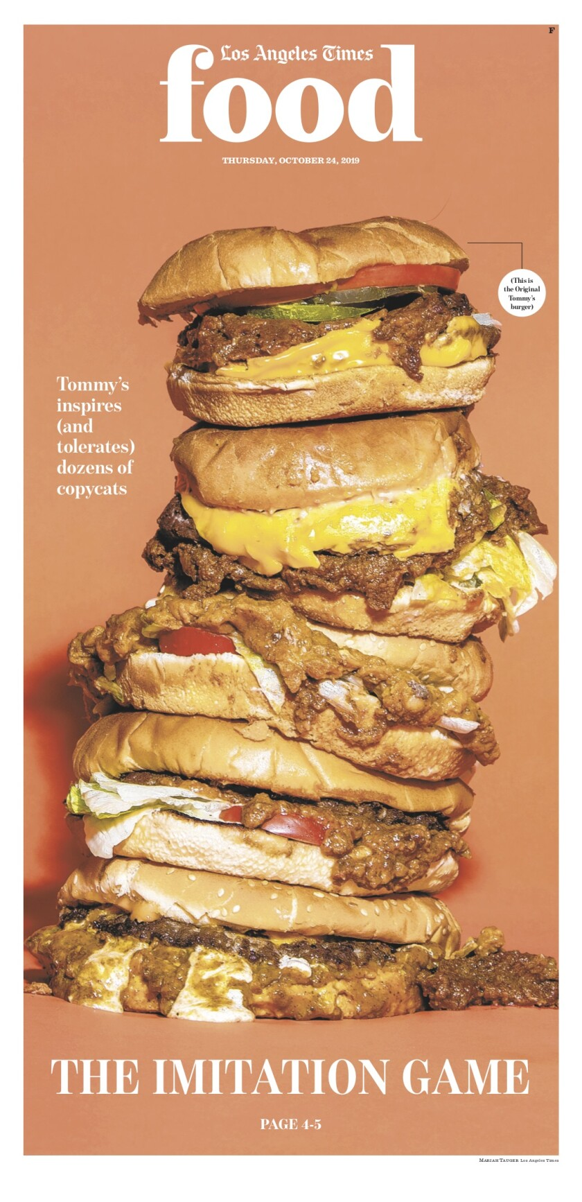 Los Angeles Times Food cover, October 24, 2019