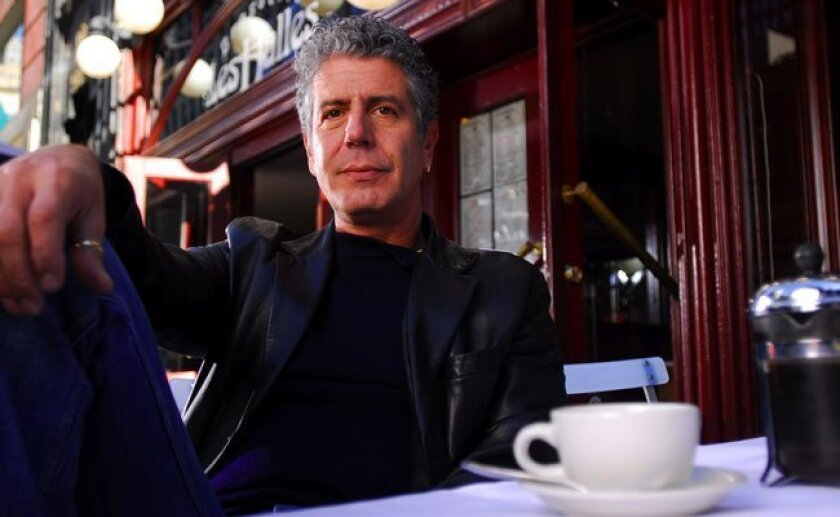 The author, TV host and former chef, Anthony Bourdain.