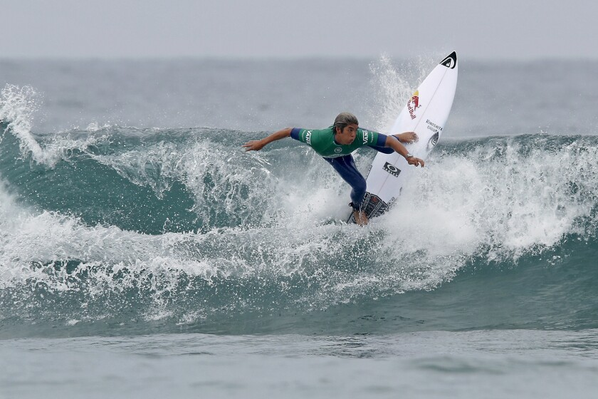 Kanoa Igarashi, pictured competing in the U.S. Open of Surfing in Huntington Beach on July 30, will represent Japan in the 2020 Tokyo Olympics next summer.