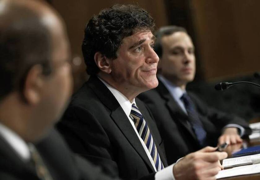 J. Russell George, left, Treasury inspector general for tax administration; acting IRS Commissioner Steven Miller, who has resigned; and former Commissioner Douglas Shulman testify before the Senate Finance Committee.