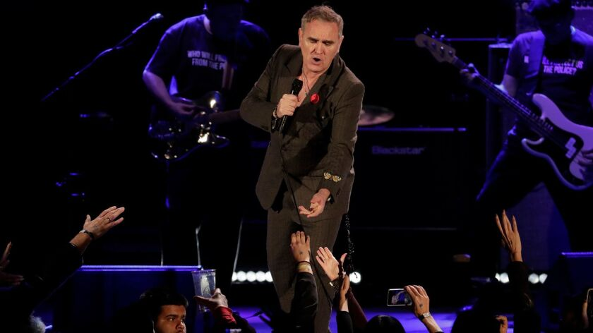 Morrissey performs Friday night at the Hollywood Bowl.
