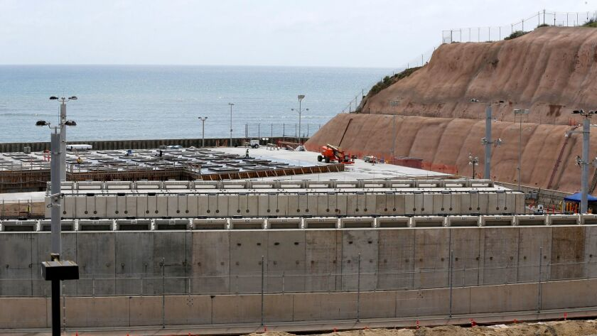 Construction is underway at the San Onofre Nuclear Generating Station to expand a storage installati