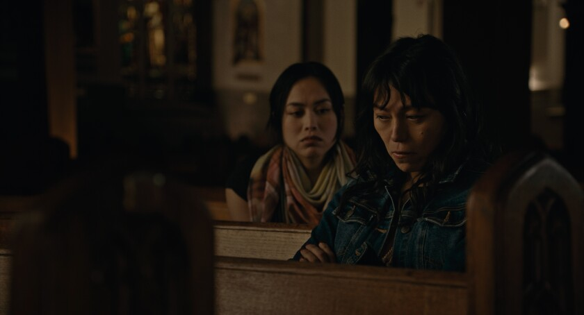 """Ivory Aquino, left, and Isabel Sandoval in """"Lingua Franca."""""""