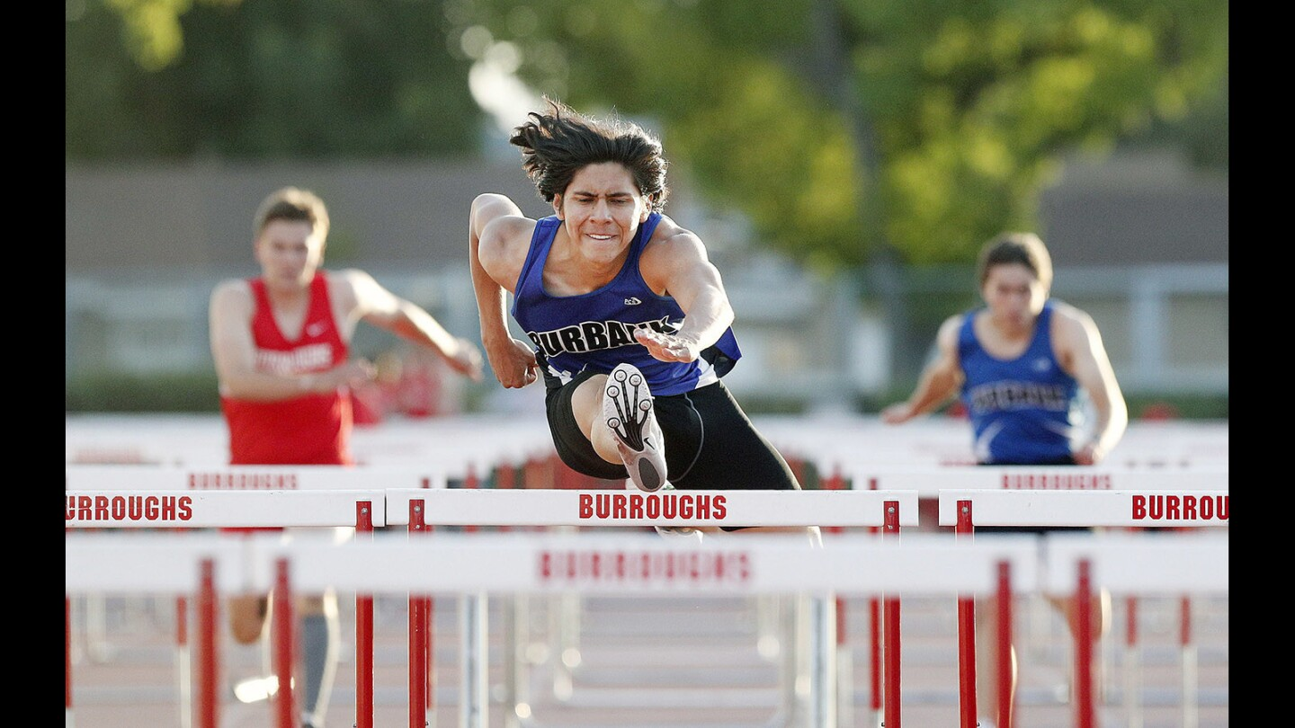 Photo Gallery: Burroughs vs. Burbank in rival Pacific League track
