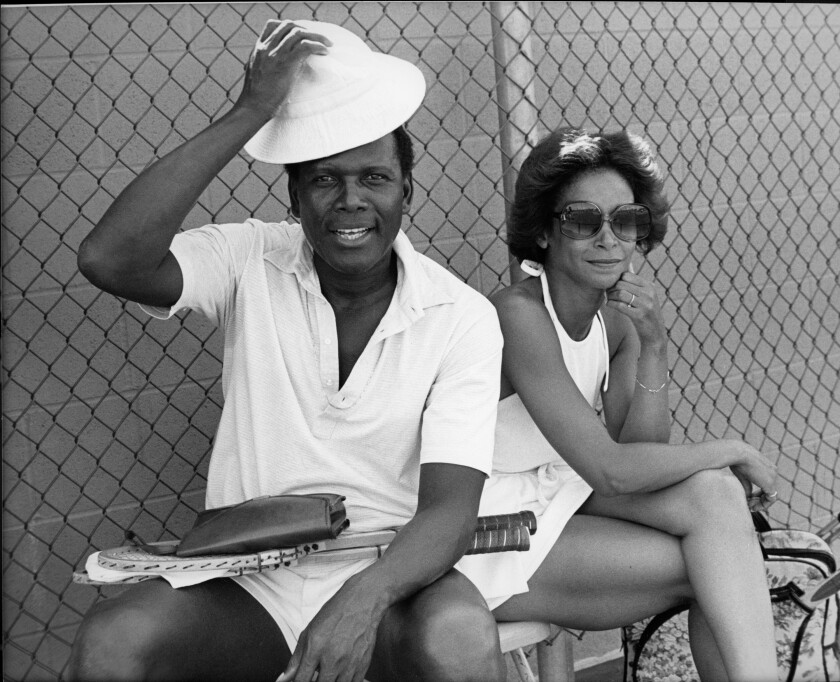 Sidney Poitier and Freda Payne, Los Angeles, ca. 1976.