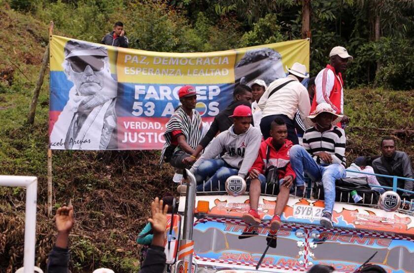 La misión de Apoyo al Proceso de Paz en Colombia de la Organización de Estados Americanos (MAPP/OEA) valoró hoy el tránsito de las FARC desde la guerrilla hacia la sociedad civil y la participación política, pero alertó de la inseguridad persistente en el ámbito rural. EFE/ARCHIVO