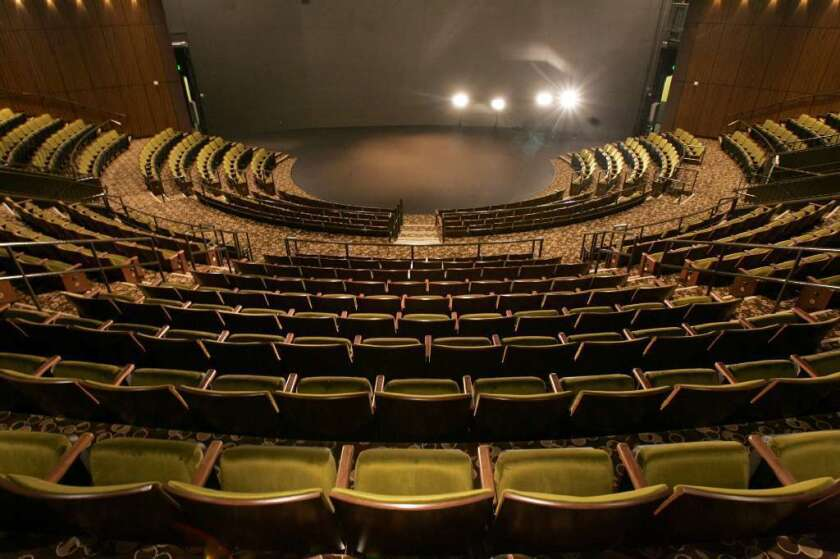 Inside the Mark Taper Forum before the audience arrives. A new study says that the nonprofit theater sector has continued to see its audiences decline in the five years since the Great Recession, although at a slower pace than before and during the downturn.