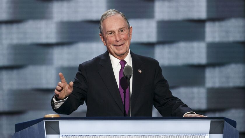 Michael Bloomberg at the 2016 Democratic National Convention in Philadelphia.