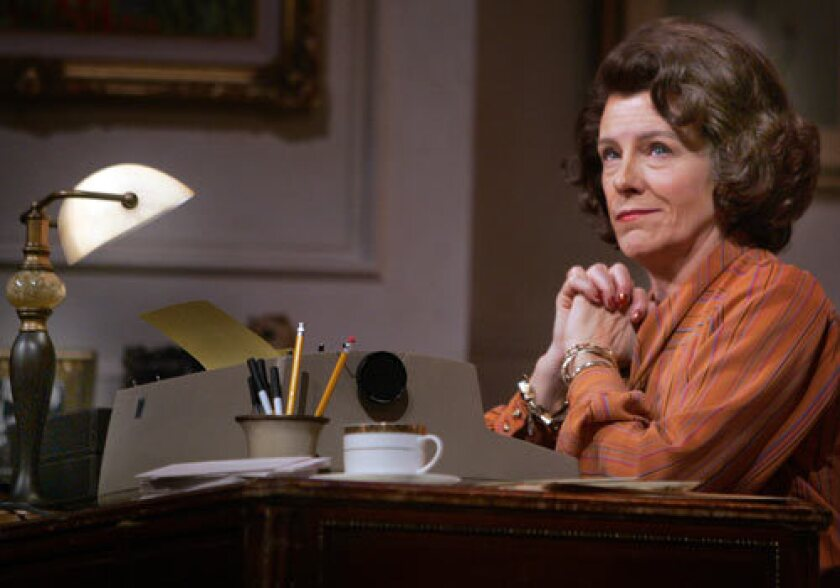"""WORDSMITH: Mimi Kennedy portrays columnist Ann Landers in David Rambo's """"The Woman With All the Answers,"""" currently at the Pasadena Playhouse."""