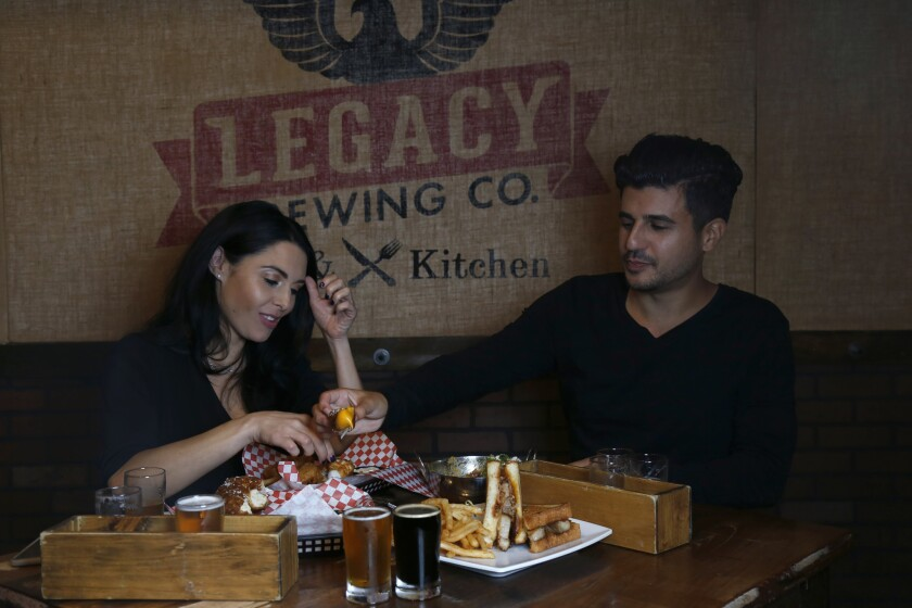 Lauren and Kevin stop a lot Legacy Brewing in Miramar for some food and a few beers.