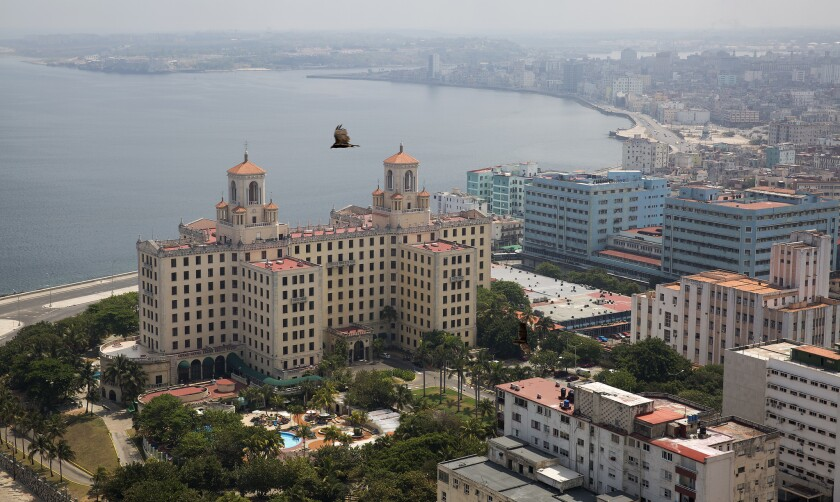 A view of the Hotel Nacional de Cuba and central Havana from the La Torre restaurant atop the Fosca Building on April 24, 2015.