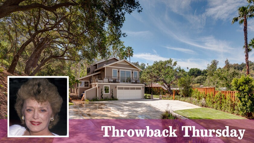 """The Studio City house was once home to Rue McClanahan of the TV show """"Golden Girls."""""""