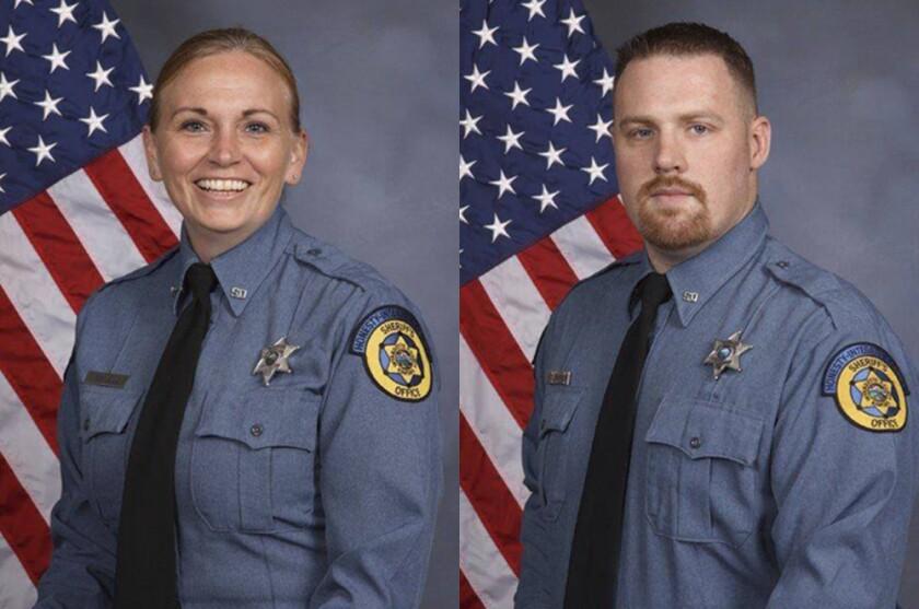 Wyandotte County Sheriff Deputy Theresa King and Deputy Patrick Rohrer.