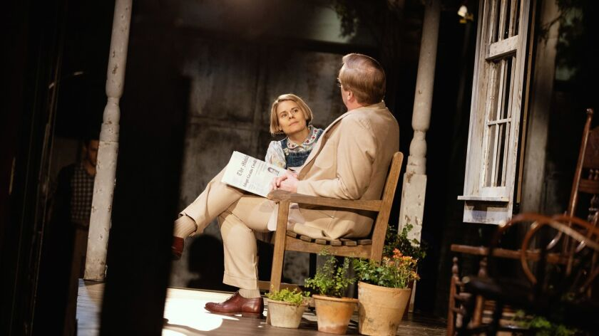 "Celia Keenan-Bolger and Jeff Daniels in Harper's Lee's ""To Kill a Mockingbird"" by Aaron Sorkin."