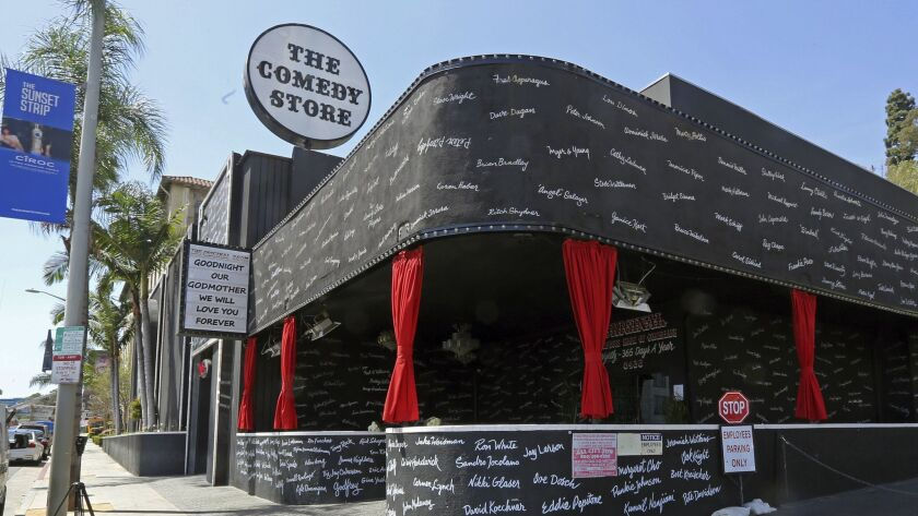 The Comedy Store is adorned with the names of hundreds of great comedians who have passed through its doors.