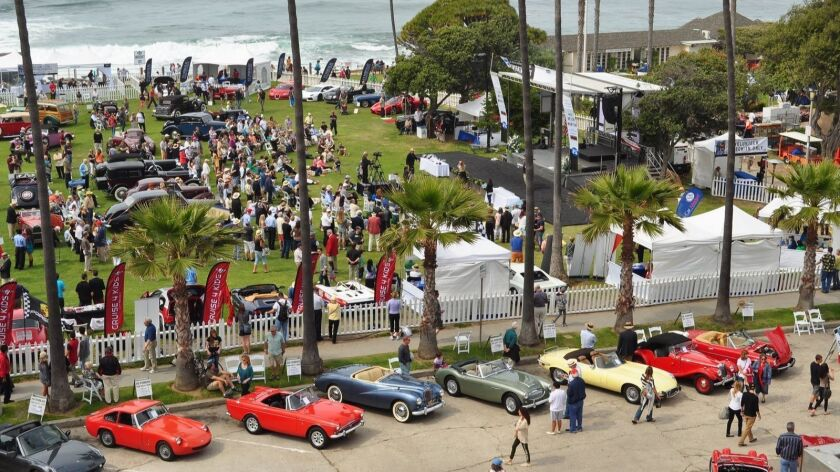A scene from a previous La Jolla Concours d'Elegance car show. The car-show/main event for 2018 takes place 9 a.m. to 4 p.m. Sunday, April 8 at Scripps Park, 1100 Coast Blvd., La Jolla.