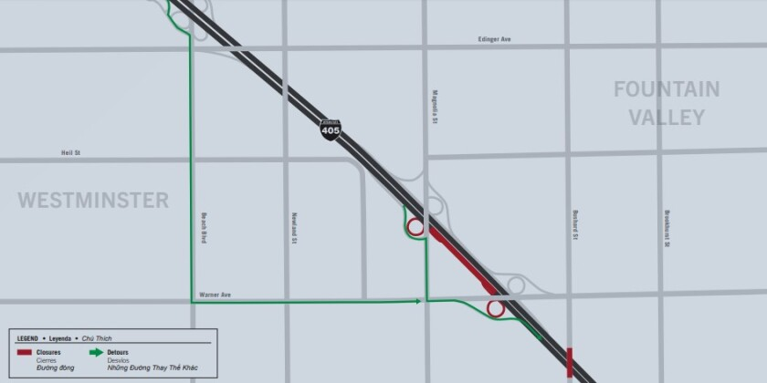 405 closure map