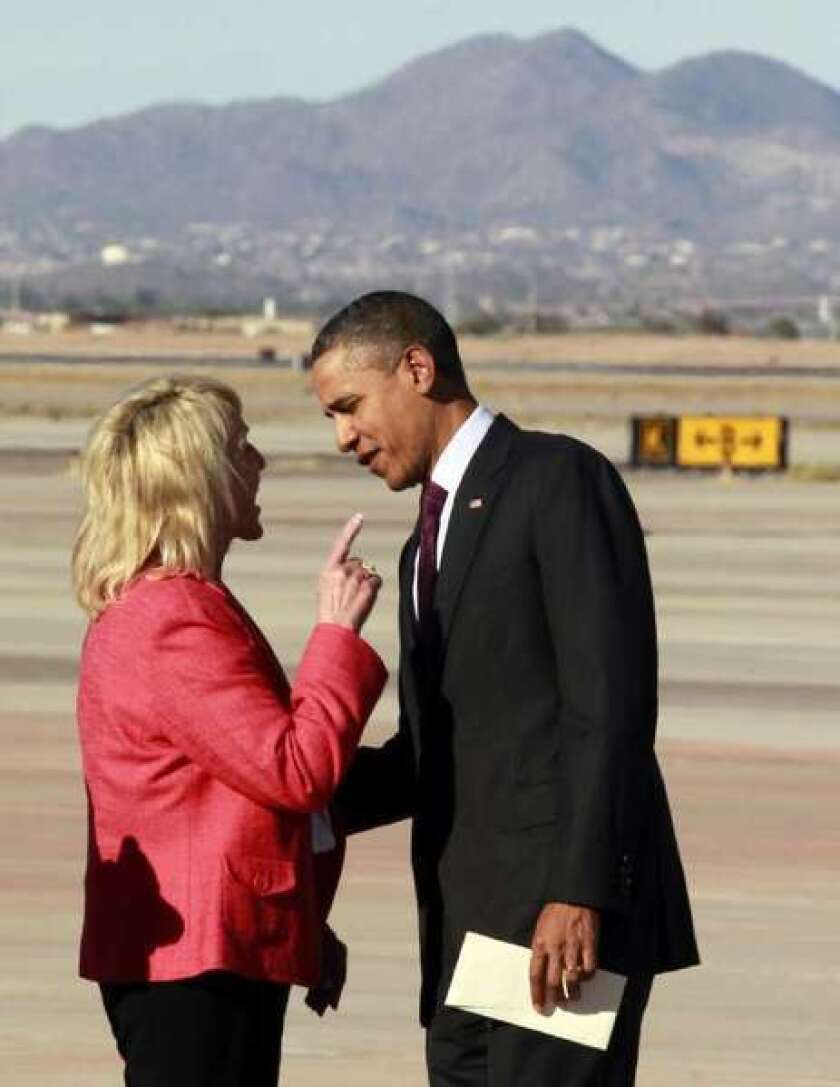 Arizona Gov. Jan Brewer picks another fight with President Obama
