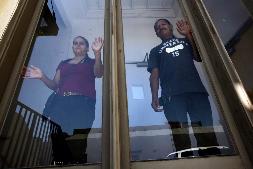 Marina Torres and Jose Luis Cazares were cleaners at the Regal Cinemas at L.A. Live for more than six years. They filed a complaint with the California Labor Commissioner to get more than $55,000 in back pay.