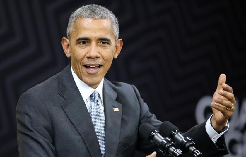 El presidente, Barack Obama, reconoció hoy que el próximo 20 de enero, cuando finalice su Gobierno, se convertirá en el primer mandatario estadounidense en completar dos legislaturas en tiempos de guerra. EFE/ARCHIVO