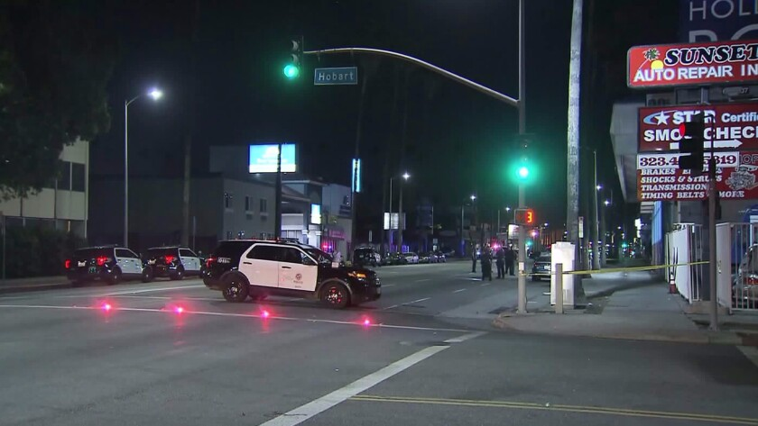 Carjacking and shooting in East Hollywood