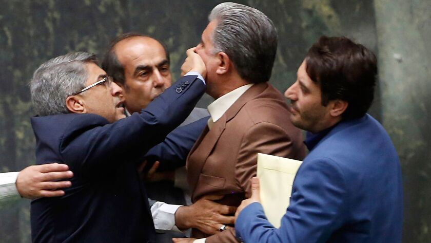 Iranian Economy and Finance Minister Masoud Karbasian sacked, Tehran, Iran (Islamic Republic Of) - 26 Aug 2018