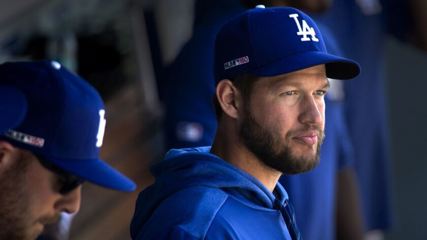 LOS ANGELES, CALIF. -- THURSDAY, MARCH 28, 2019: Dodgers star pitcher Clayton Kershaw, who is on the