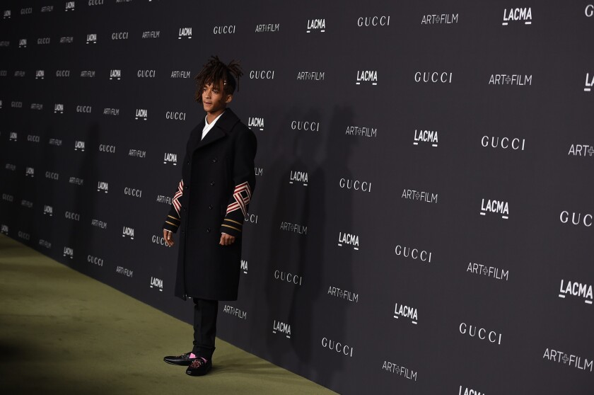 Jaden Smith at the annual Art + Film gala at LACMA.