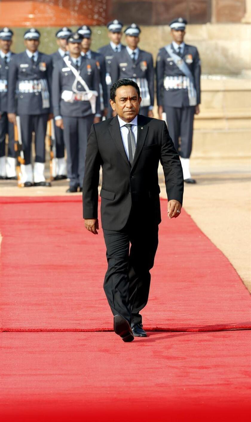 El presidente de Maldivas, Abdullá Yameen. EFE/Archivo